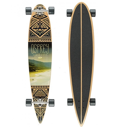 OSPREY Longboard Coastline 46 - Nice ethnical print with photo print on this Osprey skateboard