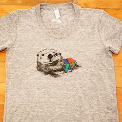 Park Life Store's Otter With Rubik's Cube tee