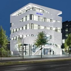 Gnädinger Architects have completed the Otto Bock building in Berlin, Germany.