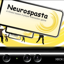 Neurospasta is a free-form Kinect game platform for full-body experimentation and play. Participants control their own Kinect-based puppet as well as the other player's avatar.