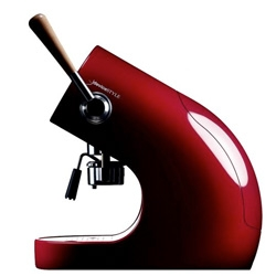 Brunopasso PD-1 is a pod espresso machine. designed by Tadahito Ishibashi for deviceSTYLE. Beautiful machine that reminds me of 60s roadsters.