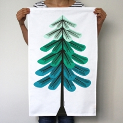 Our WorkShop has adorable Tree Tea Towels ~ one for each season! (This is winter!)