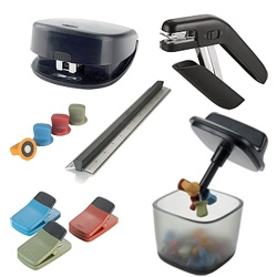 OXO Office Products exclusively at STAPLES!!! Very interesting ergo friendly staplers, rulers, magnets, pushpins, clips and more...