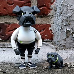"unbound25 Genetic Code - a limited edition set of resin figures including 5.5"" Rough Bulldog and Baby Bulldog."
