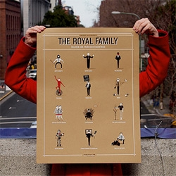 The Royal Family ~ A poster by The Bold Italic of 12 notable San Francisco eccentrics