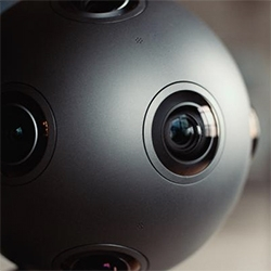 "Nokia OZO Virtual Reality Camera - ""The OZO lets you record real life and experience it again later via a VR headset. It works just like a movie camera—except it captures visuals and sound in 360, capturing true presence."""