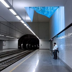 We've got new photos of Pritzker Prize-winner Eduardo Souto de Moura's subway stations in Portugal!