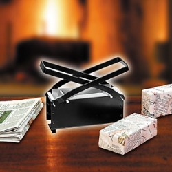 "Newspaper Brick maker ~ wet the newspapers, smoosh them in, press out water ~ perfect as fireplace ""logs"" or fort building?"