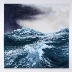 What happens when you take an artist obsessed with the sea and place him in a landlocked country, a 1000km from the nearest surfable wave. Tom Phelan paints the ocean.