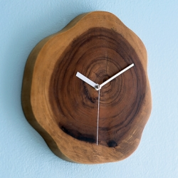 a pretty wood plinth clock to remind you all to change your clocks and watches.
