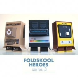Marshall Alexander the creator of the famous Foldskool Heroes just recently released his third series of Foldskool Heroes personal customs based on vintage game consoles.