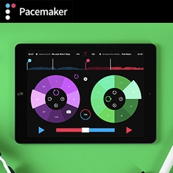 Pacemaker! From the gorgeous, portable music mixing hardware a few years back to the free iPad version that can mix iTunes and Spotify tracks even!