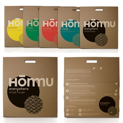 Hommu, a new Spanish brand of decorative home accessories only uses top quality 100% recyclable material for both their products (recyclable wall stickers) and their packaging. Eco-chic design!