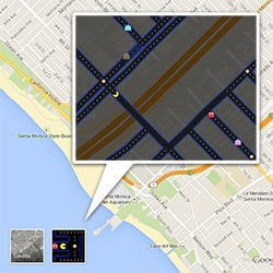 Google Maps Pacman time! Just find an area with enough roads and click the pacman button next to satellite view.