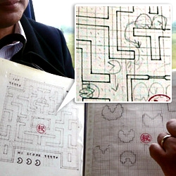 Toru Iwatani still carries top secret documents with him to game conferences. No, really. The original Pac-Man sketches!