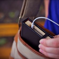 Pad & Quill make gorgeous cases for your iPhone4, disguising it as a small black notebook.