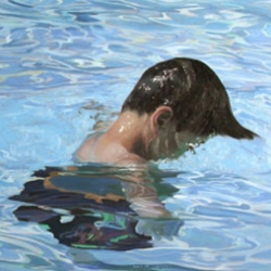 Alyssa Monk's paintings of water and human's are quite stunningly done.