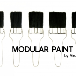 The Modular Paint Brush is made up of sectioned-off bristles that are easily attached and detached from the expanding metal handle. Designed by Virang Akhiyaniya.