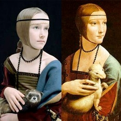 "Rainer Elstermann series ""Old Masters"", recreates classic art icons, but replaces the originals models with children."