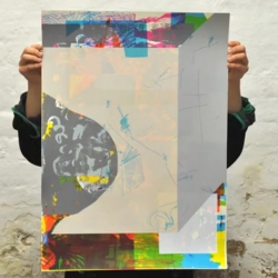Palefroi, a screenprint duo based in Berlin, documented every test print of 2013 on one piece of paper. A prolific year!
