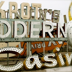 Neon Boneyard, where old Las Vegas is left to decay.  Photographed by Pam Sattler.