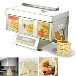 Chef Stack - perfect panless pancake making machine... wow.