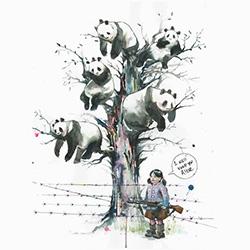 Panda Tree print by Lora Zombie