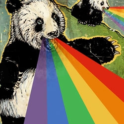 Explore Flickr via a rainbow vomiting panda... [Editor's Note: i didn't know what to make of this submission, but couldn't stop laughing once i clicked]