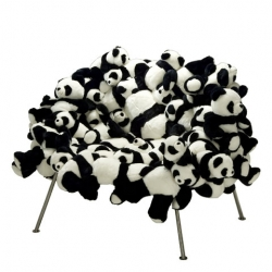 Cushion your butt with Pandas!  This chair is created by the Campana brothers in a numbered and limited edition of 25 pieces, exclusive to Moss.