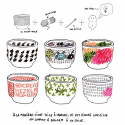 Designed by Guillaume Delvigne and Ionna Vautrin for Innotreal the Embroidery Bowl let's you stitch your own pattern on it.