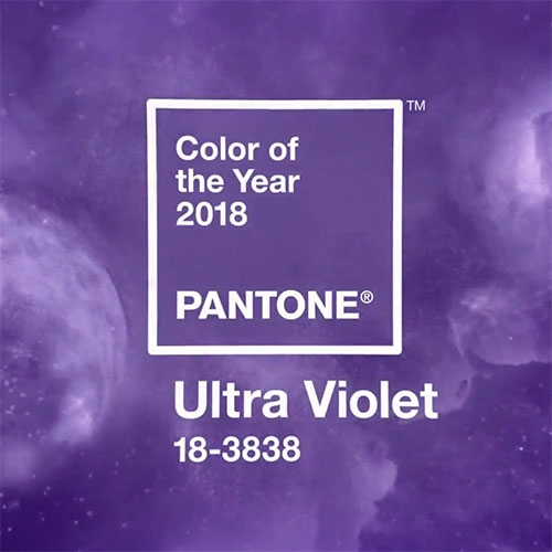 Pantone Color of The Year 2018 = Ultra Violet a spacey, vibrant purple!