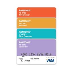 PANTONE + Visa® Platinum Rewards Card.