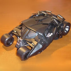 The Batmobile - awesome papercraft model you can build yourself.
