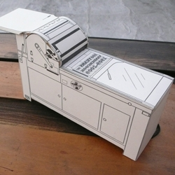 Print your own Vandercook Proof Press... Papercraft letterpress for everyone! 