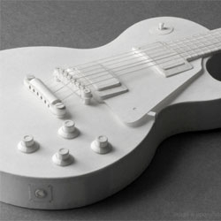 Pepakura- electric guitar L paper model kit at Upon A Fold, designed by Handson.