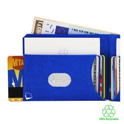 Paperwallet makes wallets from Tyvek, a tear-resistant paper-thin elastic fabric. The result are small, slim, durable, expandable and light wallets.