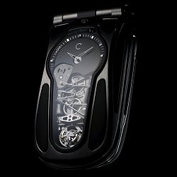The Papillion Tourbillion, a cell phone merged with a tourbillion watch featuring a patented Remontage Papillon mechanism.