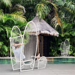 New pieces from Kenneth Cobonpue from Maison et Objet 2011 include this Papillon lounge chair and ottoman.