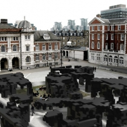 "Award winning Polish architects Ola Wasilkowska and Michał Piasecki take over Chelsea College of Art courtyard, next to Tate Britain, for a participatory art event. ""Parade: The Market of Ideas"" by Critical Practice. Sunday 23nd May, 2pm-6pm."
