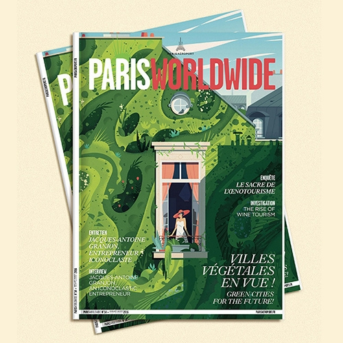 Cruschiform Green Cities illustrations for Paris Worldwide are stunning! Illustrated green/living walls in an urban setting.