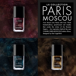 On color palettes to watch ~ i'm obsessing over Chanel's new Paris Moscou collection ~ there are galaxies in those that you can stare into for ages... website/graphic/interior design inspiration?