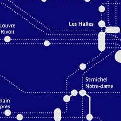 "Designer Clémentine Tantet takes Paris's name ""City of Lights"" and redesigns it's Underground map with the aesthetics of a map of the stars."