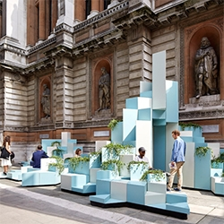 """""""Unexpected Hill"""" - SO? Architecture and Ideas were commissioned by the Royal Academy of Arts and Turkishceramics to create an installation at the Burlington Gardens in London. Made of ceramics."""