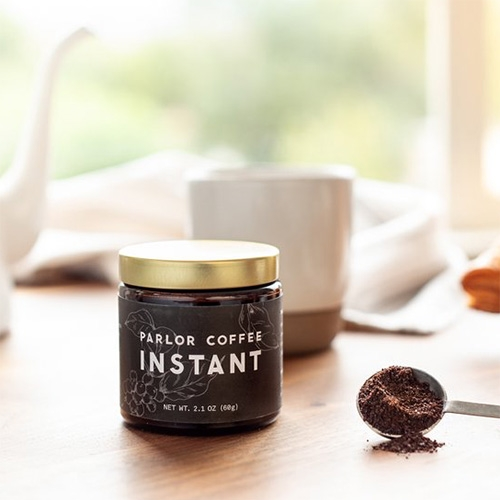"Parlor Coffee INSTANT is ""Seasonally sourced and meticulously preserved with freeze-dried technology"" - lately it seems like we've been entering a new era in instant coffee."