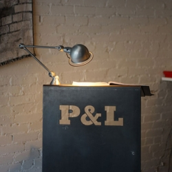 Parts & Labour is located in Toronto's Parkdale area. The restaurant's 'heavy metal dude ranch' aesthetic was designed by Brian Richer and Kei Ng of Castor Design.