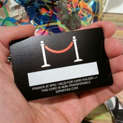 50 PARTIES! 50 Themes. 50 Weeks. In a row. In the studio. No sponsors. No strangers. at Ryan McGinness Studios... even the invite/guest cards are awesome!