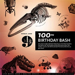 LA's Natural History Museum turns 100! They are going to have Nature after dark with a discussion about Mars Curiosity rover, food trucks, garden tours, DJs in the Mammal Halls, and outdoor shows with DEVO and GZA/The Genius in concert!