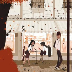 san francisco artist pascal campion washes our senses over with the rich colors and lines in his illustration work.