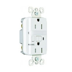 Pass & Seymour 15 amp Tamper-Resistant GFCI Receptacle and Nightlight.