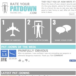Rate-Your-Patdown: A site asking travelers to rank pat-downs at airports. An interview with creator Eric Sucher.